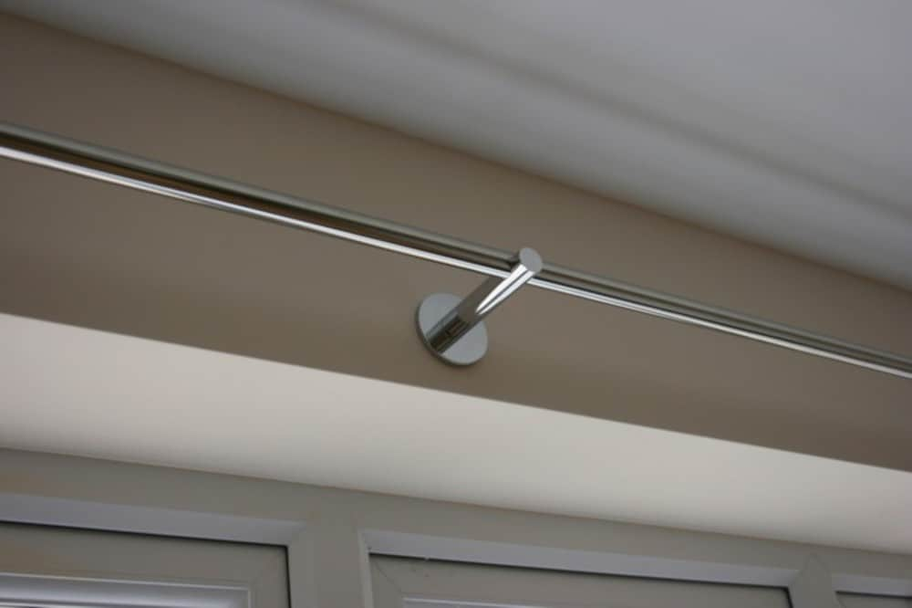 19mm Brushed Stainless Steel Curtain Pole - Stainless Direct UK