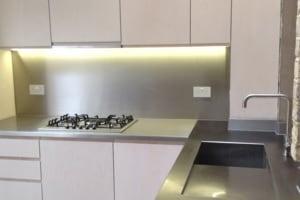 Brushed stainless steel all sizes Kitchen Splash Back